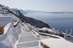 View on caldera of Santorini Stock Image