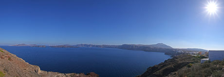View on caldera of Santorini Royalty Free Stock Images