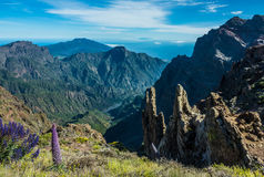 View of Caldera Taburiente vocanic area. In La Palma Royalty Free Stock Photography