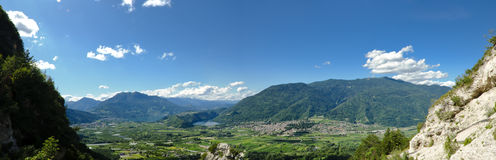 View of Caldonazzo and Levico Lakes Stock Images
