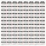 2013-2020. View calendar years 2013 2020 Stock Illustration