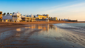 View of Caleta  Beach in  Cadiz, Spain Royalty Free Stock Photos