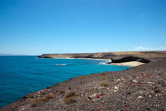 View of caleta del congrio, lanzarote Stock Images