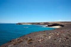 View of caleta del congrio, lanzarote. View of claeta del congrio, lanzarote, from playa mujeres Stock Images