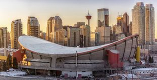 View of Calgary city skyline Stock Image
