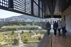 View of California Academy of Sciences from Windows of de Young Stock Images