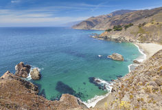 View of the California coastline along Pacific Coast Highway. Stock Photos