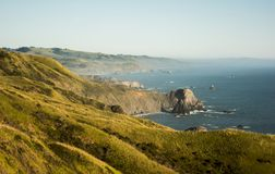 View from California Route 1 near Jenner royalty free stock image