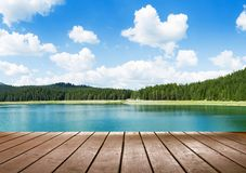 View on calm lake Stock Image