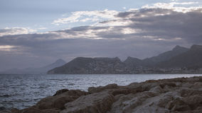 View from Calp beach Royalty Free Stock Photography