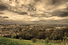 View from Calton Hill in Edinburgh. Stock Images
