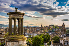 View from Calton Hill in sunny day royalty free stock photography