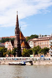 View of calvinist church in budapest Royalty Free Stock Photography