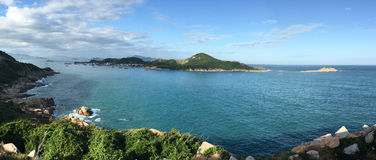 View of the Cam Ranh bay in Nha Trang, southern Vietnam Royalty Free Stock Images