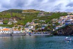 Camara de Lobos Bay. A view of the Camara de Lobos Bay in southern part of the Madeira island, Portugal Royalty Free Stock Photos