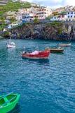 Camara de Lobos Bay. A view of the Camara de Lobos Bay in southern part of the Madeira island, Portugal Royalty Free Stock Image