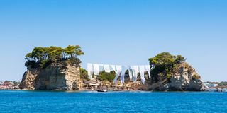 View of Cameo Island in Zakynthos Zante island, in Greece Stock Images