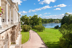 View on the Cameron gallery and Big lake in Catherine's park Royalty Free Stock Images