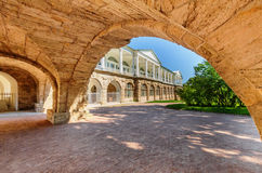 View of Cameron Gallery in Catherine Park. Pushkin, Saint Petersburg/Russia - August 11, 2015: View of Cameron Gallery in Catherine Park in summer day Royalty Free Stock Photography