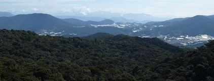 View on Cameron Highlands. View from the Gunung Brinchang on the rainforest, Cameron Highlands, Malaysia royalty free stock photos