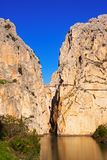 View of  Caminito del Rey. Andalusia, Spain Royalty Free Stock Images