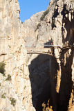 View of  Caminito del Rey Stock Images