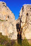 View of  Camino del Rey Royalty Free Stock Images