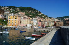 View of the camogli harbor Royalty Free Stock Images