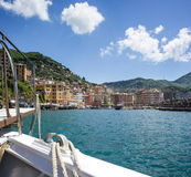 View of Camogli, Liguria coast Stock Photos