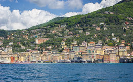 View of Camogli, Liguria coast Royalty Free Stock Photo