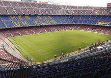 View of Camp Nou stadium Royalty Free Stock Photography