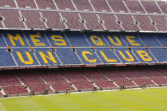 View of Camp Nou stadium Stock Images