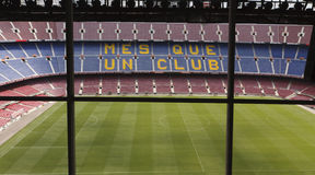 View of Camp Nou stadium Stock Photography