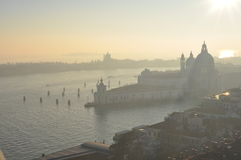 View from Campanile di San Marco in Venice. Italy royalty free stock photos