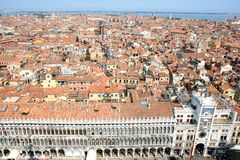 View from the Campanile over Venice, Italy Royalty Free Stock Photos