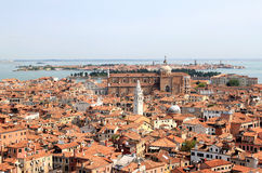 View from the Campanile in Venice to north, Italy