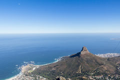 View of Camps Bay, Clifton, Lion`s Head and Bantry Bay from the stock image
