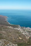View of Camps Bay from Lions Head Mountain Royalty Free Stock Photos