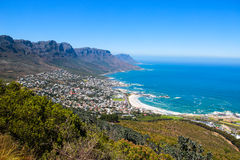 View of Camps Bay from Lions Head Stock Photography