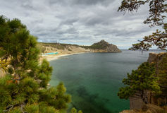 View on Campsite Sandy Bay Stock Photography