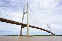 View of Can Tho cable-stayed bridge Stock Images