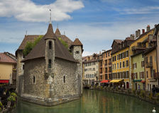 View of the canal at Annecy in France Stock Photos