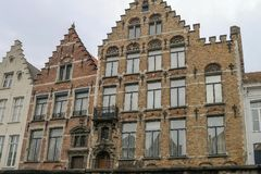 View from the canal in Bruges. In Belgium Stock Photos