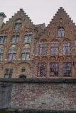View from the canal in Bruges. In Belgium Royalty Free Stock Photos