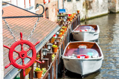 View on Canal in Brugge, Belgium Stock Photos