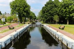 View on the Assen Canal royalty free stock photo