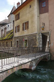 View of the canal in city centre of Annecy Royalty Free Stock Photography