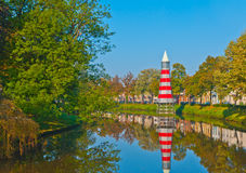 View at a canal in the Dutch city of Breda Royalty Free Stock Photography