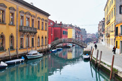 View of the canal and embankment in Venice Royalty Free Stock Photos