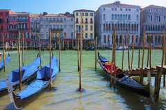 View on Canal Grande with gondolas Royalty Free Stock Photography